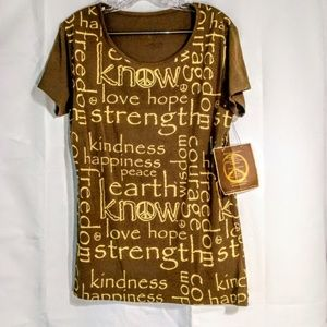 Know Tops - Know Top Sz XL Tee  Brown With  Tan Inspiration
